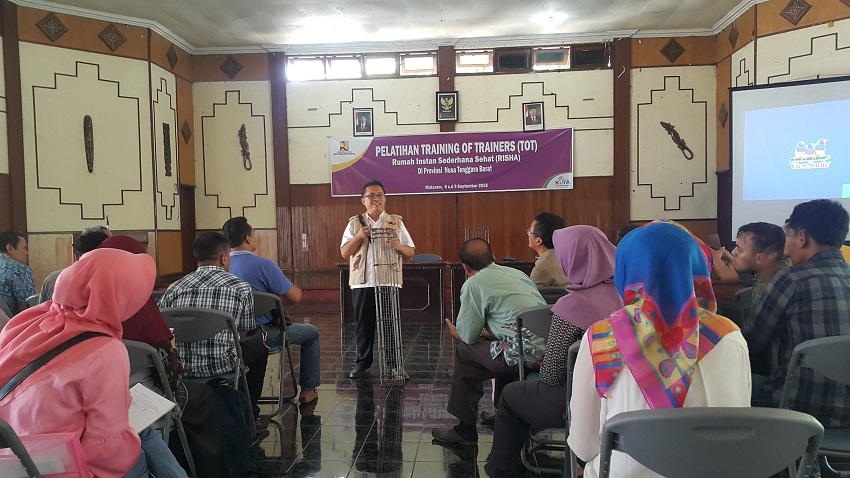 PELATIHAN TRAINING OF TRAINERS (TOT) RISHA